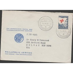 O) 1953 EUROPEAN UNION - NETHERLANDS, RED CROSS, FLAG, COVER TO UNITED STATES, X