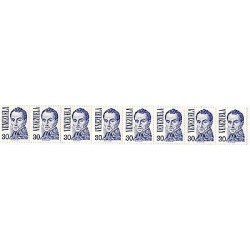 E)1976 VENEZUELA, SIMON BOLIVAR BY JOSE MARIA ESPINOZA, 1126, A231, 30C VALUE