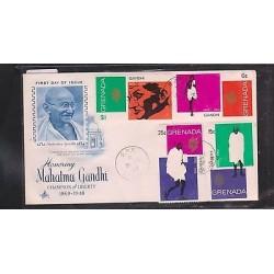 O) 1969 GRENADA,MAHATMA GANDHI 1869 TO 1948-ATTORNEY POLITICA THINKER -NON VIOLE