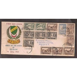 O) 1959 MALAYSIA, MULTIPLE COVER - SULTAN ABDUL HALIM, XF,