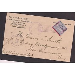 O) 1902 PANAMA, OVERPRINTED - CANAL ZONE TYPE 2 - POSTMARKED, COVER XF TO USA