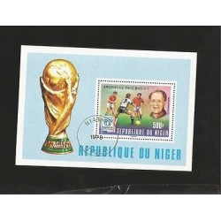 B)1978 NIGER, SOCCER PLAYERS, PLAY, FIFA WORLD CUP, SEPP HERBERGER SOCCER, ARG