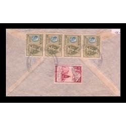 E)1948 ECUADOR, ECUADOR TRIBUTE TO ROOSEVELT, 510 A192, STRIP OF 4, MONUMENT