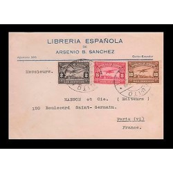 E)1929 ECUADOR, PLANE OVER RIVER GUAYAS, C8 AP1, C9 AP1,C10 AP1, ESTABLISHMENT