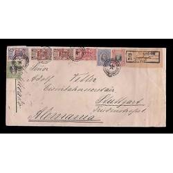 E)1911 ECUADOR, 170 A51, JOSE M. URVINA, 172 A53,MULTIPLE STAMPS, CIRCULATED COV