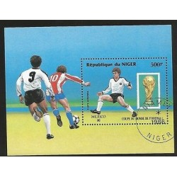 B)1986 NIGER, SPORT, ATHLETICS, WORLD CUP SOCCER CHAMPIONSHIPS, MEXICO 86´, C371