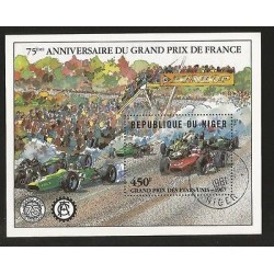 B)1981 NIGER, CARS, CAREERS, 75TH ANNIV. OF GRAND PRIX FRANCE, 568 A170, SOUVEN