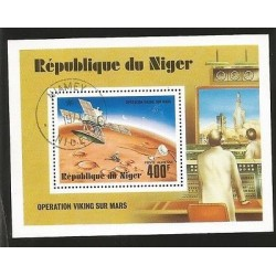 B)1977 NIGER, SATELLITES, PLANET, GALAXY, SPACE, ROCKET, OPERATION VIKING SUN M