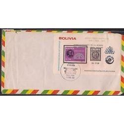 O) 1981 BOLIVIA, 500 CENTAVOS BLACK, EXPO UPU, PRENFIL -UPU 1974 CARTAGENA AGREE