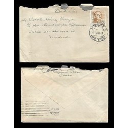 E)1951 SPAIN, GENERAL FRANCO, CIRCULATED COVER FROM MADRID TO OVIEDO, INTERNAL