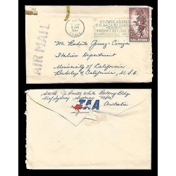 E)1964 PAPUA NEW GUINEA, AFRICAN COSTUMES, AIR MAIL, CIRCULATED COVER FROM AUSTR