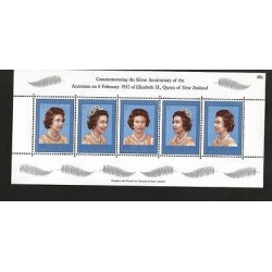 B)1977 NEW ZEALAND, ROYALTY, QUEEN, SILVER JUBILEE, 25TH ANNIV. OF THE REIGN OF