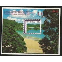 B)1986 NEW ZEALAND,LANDSCAPE, MOUNTAINS, BEACH, KNIGHT'S POINT, WORLD PHILATELI