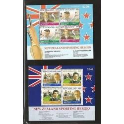 B)1992 NEW ZEALAND, SPORTS, TENNIS, FAMOUS, SPORTING HEROES, SPORTSMEN, 90-92