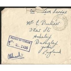E)1918 GREAT BRITAIN, INTERNAL USAGE, WAR CENSORSHIP, XF