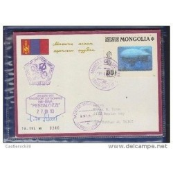 O) 1993 MONGOLIA, COVER 3 D. SUBMARINE, USED TO USA, XF
