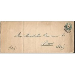 E)I1878 ITALY, HALF PENNY, FANCY CANCE,. CIRCULATED COVER