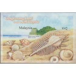 O) 2008 MALAYSIA, MOLLUSK, VENUS, COMB MUREX, SOUVENIR MNH