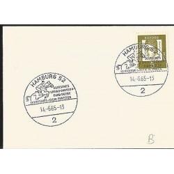 E)1967 GERMANY, ALBERTUS MAGNUS, HORSE RIDING, FANCY CANCE,. MARCOPHILIA