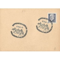 E)1964 GERMANY, HORSEBACK RIDING, FANCY CANCE,. MARCOPHILIA