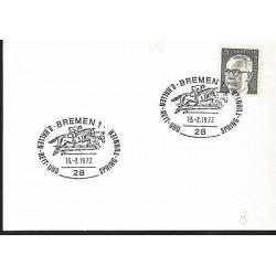E)1965 GERMANY, GUSTAV HEINEMANN, HORSE RIDING, FANCY CANCE,. MARCOPHILIA