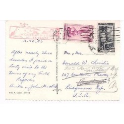 E) 1953 ITALIA, CASTELO DI S. GIUSTO TRIESTE, CIRCULATED TO USA, POST CARD