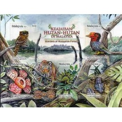 G)2013 MALAYSIA, BIRDS-TIGER-FLOWER-PLANTS-INSECTS. WONDERS OF MALAYSIAN FORESTS