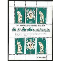 E)1953 FIJI, 25TH ANNIVERSARY OF THE CORONATIONM, QUEEN ELIZABETH II, THE HOUSE