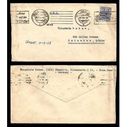 E)1911 GERMANY, SOVIEIT OCCUPATION ZONE, CLASSIC CIRCULATED COVER TO USA, XF
