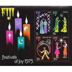 E)1975 FIJI, FESTIVAL OF JOY, MINISHEETS, MNH