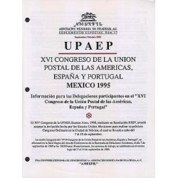 RG)1995 MEXICO, UPAEP XVI CONGRESS, MEXICO 1995, AMEXFIL SPECIAL SUPPLEMENT No.