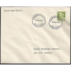 E)1948 DENMARK, ROYAL MAIL, SVEN EWERT, FDC