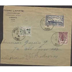 C) 1935 FRANCE CIRCULATED COVER TO MEXICO, NORMANDIE AND SEMIPOSTALS XF