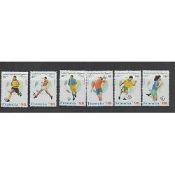 O) 1996 AFRICA - SAHARA, WORLD CUP SOCCER FRANCE 1998 - FOOTBALL, SET MNH