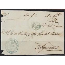 O) 1864 PUERTO RICO, SEAL BLUE ALCALDIA PEPINO, TO AGUADILLA, XF