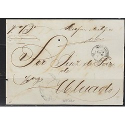 O) 1867 PUERTO RICO, COVER FROM ARECIBO TO AGUADO, XF