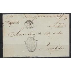 O) 1869 PUERTO RICO, SEAL JUZGADO DE 1a INSTA DE AGUADILLA, TO ISABELA, XF