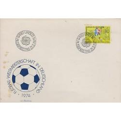 G)1974 LIECHTENSTEIN, WORLD CUP GERMANY '74, SOCCER BALL-MATCH-PLAYERS, FDC, XF
