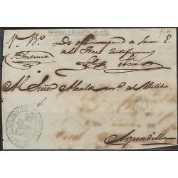 O) 1867 PUERTO RICO, SEAL BLUE ALCALDIA PEPINO, TO AGUADILLA, XF