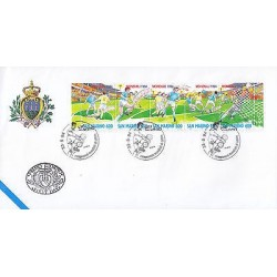 G)1994 SAN MARINO, WORLD CUP 1994, SOCCER PLAYERS-GAME-SOCCER BALLS-GOAL, FDC, X