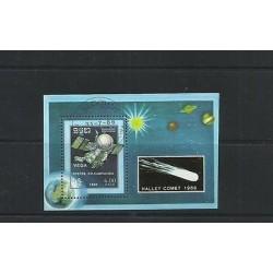 O) 1986 CAMBODIA, SPACE, HALLEY COMET 1986 - VEGA, SOUVENIR MNH - CTO