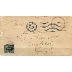 G) 1925 CANAL ZONE, UNITED STATES POSTAGE 1C, RED MARK POSTAGE DUE, BLACK CANAL