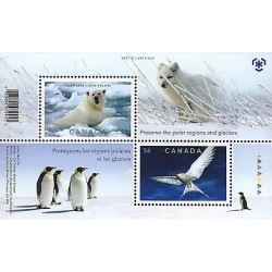 G)2009 CANADA, ARTIC-ANTARTIC, POLAR BEAR-POLAR FOX-PENGUIN, PRESERVE THE POLAR