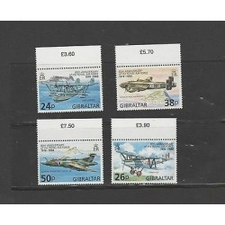 O) 1998 UNITED KINGDOM - GIBRALTAR,WAR PLANES, AIRPLANES 80TH ANNIVERSARY OF THE