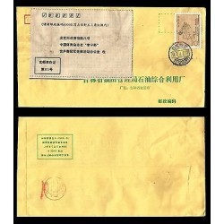 E)1995 CHINA, ANCIENT CHINESE WRITERS, CIRCULATED REGISTERED COVER, XF
