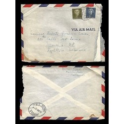 E)1952 NETHERLANDS, QUEEN JULIANA, SC 310 A76, 314 A76, AIR MAIL, CIRCULATED