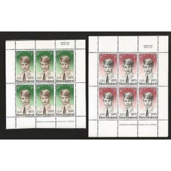 B)1973 NEW ZEALAND, ROYAL, ROYALTY, CHILDREN, PRINCE EDWARD, HEALTH, SERIES OF T