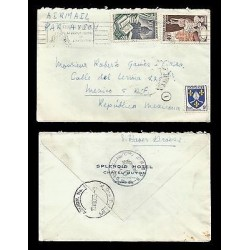 E)1955 FRANCE, POPE EMBLEM, PORCELAIN, BOOKS, SPLENDID HOTEL, AIR MAIL, CIRCULAT