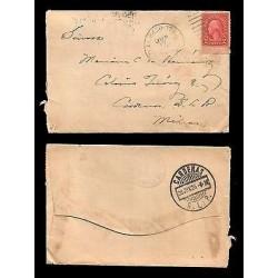 E)1926 UNITED STATES, WASHINGTON 554 A157, CIRCULATED COVER TO MEXICO D.F, RARE