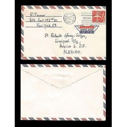 E)1967 UNITED STATES, SILHOUETTE OF JET AIRLINER, UC34 UC8, AIR MAIL, CIRCULATED